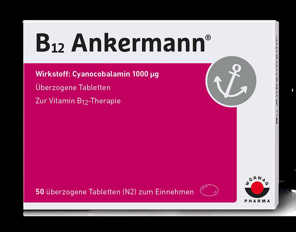 Packshot von B12 Ankermann Dragees